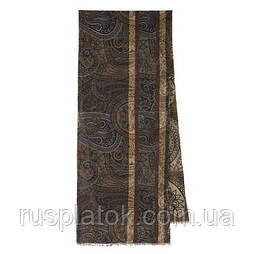 10372 кашне мужское разреженная шерсть 10372-17, павлопосадский шарф (кашне) шерстяной (разреженная шерсть) с осыпкой