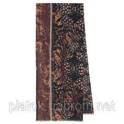 10373 кашне мужское разреженная шерсть 10373-6, павлопосадский шарф (кашне) шерстяной (разреженная шерсть) с осыпкой