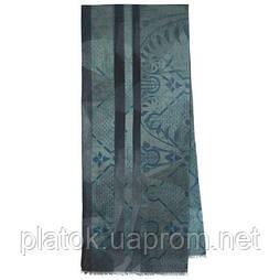 10374-14 кашне мужское, павлопосадский шарф (кашне) шерстяной (разреженная шерсть) с осыпкой