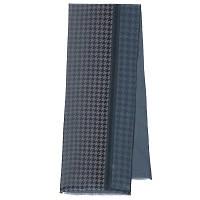 Кашне мужское 10173-14, павлопосадский шарф (кашне) шерсть-шелк (атлас) двусторонний мужской с осыпкой