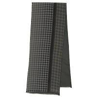 10173 кашне мужское шелк (крепдешин)-шерсть 10173-18, павлопосадский шарф (кашне) шерсть -шелк (атлас) двусторонний мужской с осыпкой