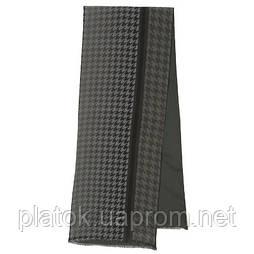 Кашне мужское 10173-18, павлопосадский шарф (кашне) шерсть-шелк (атлас) двусторонний мужской с осыпкой