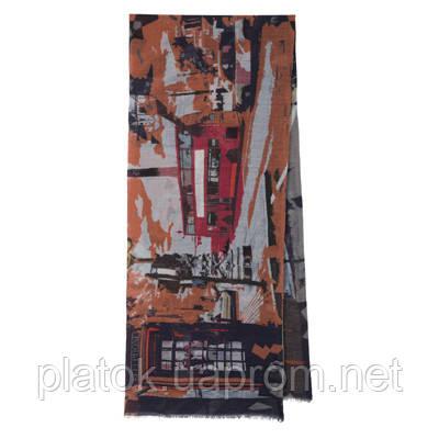 10376 кашне мужское разреженная шерсть 10376-14, павлопосадский шарф (кашне) шерстяной (разреженная шерсть) с осыпкой