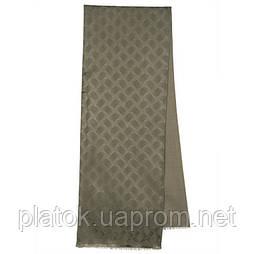 Кашне мужское 1201-3, павлопосадский шарф (кашне) шерсть-шелк (атлас) двусторонний мужской с осыпкой