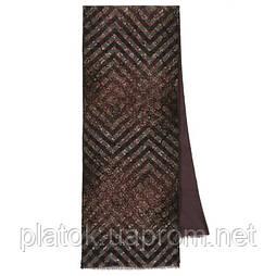Кашне мужское 10174-8, павлопосадский шарф (кашне) шерсть -шелк (атлас) двусторонний мужской с осыпкой