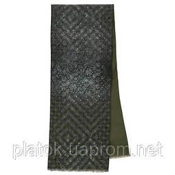 Кашне чоловіче 10174-14, павлопосадский шарф (кашне) вовна шовк (атлас) двосторонній чоловічий з осыпкой