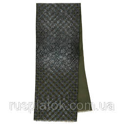 Кашне мужское 10174-14, павлопосадский шарф (кашне) шерсть -шелк (атлас) двусторонний мужской с осыпкой