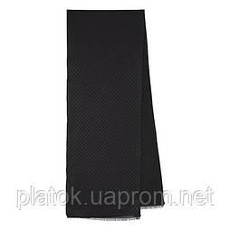 71205 кашне чоловіче шовк (жаккард)-вовна 71205-1, павлопосадский шарф (кашне) вовна шовк (атлас) двосторонній чоловічий з осыпкой