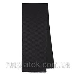 71205 кашне мужское шелк (жаккард)-шерсть 71205-1, павлопосадский шарф (кашне) шерсть -шелк (атлас) двусторонний мужской с осыпкой