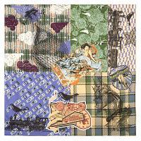 10314 платок хлопковый 10314-14, павлопосадский платок на голову хлопковый (саржа) с подрубкой