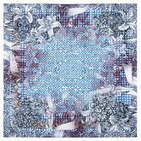 10326 платок хлопковый 10326-14, павлопосадский платок на голову хлопковый (саржа) с подрубкой   Первый сорт