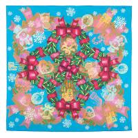 10423 платок хлопковый 10423-13, павлопосадский платок на голову хлопковый (саржа) с подрубкой   Первый сорт    СКИДКА!!!