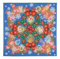 10423 платок хлопковый 10423-14, павлопосадский платок на голову хлопковый (саржа) с подрубкой   Первый сорт    СКИДКА!!!