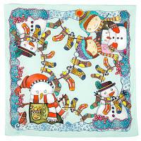 10425 платок хлопковый 10425-11, павлопосадский платок на голову хлопковый (саржа) с подрубкой   Первый сорт    СКИДКА!!!