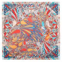 10322 платок хлопковый(батист) 10322-4, павлопосадский платок (на голову, шейный) хлопковый (батистовый) с подрубкой   Первый сорт