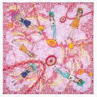 10379 платок хлопковый(батист) 10379-3, павлопосадский платок (на голову, шейный) хлопковый (батистовый) с подрубкой   Первый сорт