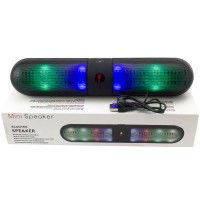 Портативная Bluetooth MP3 колонка beats Danwan LED черная, музыкальная колонка, блютуз колонка