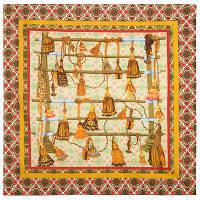 10283-2, павлопосадский платок (на голову, шейный) хлопковый (батистовый) с подрубкой