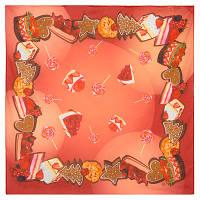10310 платок хлопковый(батист) 10310-3, павлопосадский платок (на голову, шейный) хлопковый (батистовый) с подрубкой   Стандартный сорт