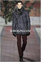 Пальто ультрамодное мужское с натуральным мехом
