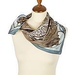 10143-1, павлопосадский шейный платок (крепдешин) шелковый с подрубкой, фото 2