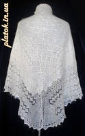 Платок Ш-000422, серый, оренбургский платок, фото 1