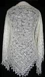 Шаль Ландыши  Ш-00023, белый, вышивка , оренбургский платок (шаль) с вышивкой, фото 3