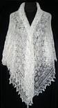 Шаль Ландыши  Ш-00023, белый, вышивка , оренбургский платок (шаль) с вышивкой, фото 2