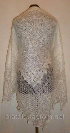 Шаль Метелица Ш-00050, белый, оренбургский платок (шаль)