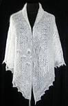 """Шаль """"""""Морозные узоры. Снежный вальс""""""""  Ш-00025, белый , оренбургский платок (шаль), фото 4"""
