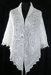 """Шаль """"""""Морозные узоры. Снежный вальс""""""""  Ш-00025, белый , оренбургский платок (шаль), фото 5"""