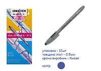 Ручка Unix шарик Global синий