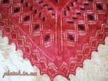 """Шаль вышитая """"""""Красная смородина"""""""" Ш-00007, красный,черная вышивка, оренбургский платок (шаль) с вышивкой, фото 4"""