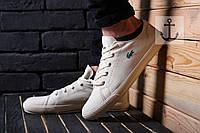 Мужские кеды Lacoste белые, фото 1