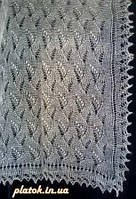 """Палантин """"""""Ландыши"""""""" П-00057, белый, оренбургский шарф (палантин)"""