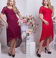 Гипюровое платье в батальных размерах w-t6152