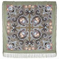 Мечты о счастье 1665-2, павлопосадский платок шерстяной с шелковой бахромой   Первый сорт