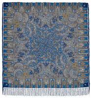 Садко 598-57, павлопосадский платок шерстяной с шелковой бахромой   Первый сорт