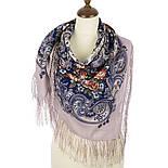 Секрет успеха 1635-1, павлопосадский платок шерстяной (двуниточная шерсть) с шелковой бахромой, фото 2