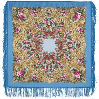 На крыльях ветра 1690-13, павлопосадский платок шерстяной с шерстяной бахромой   Первый сорт    СКИДКА!!!