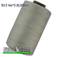 Нить капроновая рыбопосадочная 0.8 мм. - 4755 м. плотность 93.5 текс в 3 нити, вес 1.5кг рыболовная , фото 2