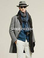 Пальто  мужское изысканное с натуральным мехом