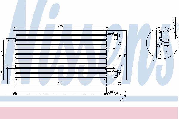 Радиатор кондиционера на Renault Trafic  2003->  2.5dCi  (135 л. с. )  —  Nissens (Дания) - NIS 94678