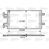 Радиатор кондиционера на Renault Trafic  2006->  2.5dCi  (146 л. с. )  —  Valeo ( Франция) - VAL814171