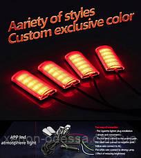 LED RGB подсветка салона с управлением через приложение на смартфоне, фото 3
