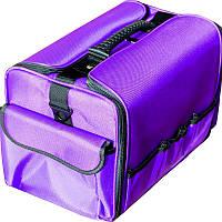 Чемодан мастера ткань фиолетовый