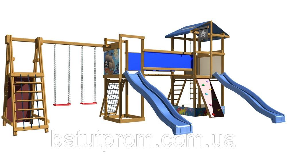 Деревянная площадка для улицы SportBaby-12
