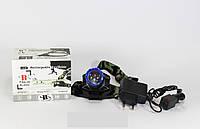 Ультрафиолетовый налобный фонарик BL-6903, уф фонарь, фонарик с UF диодом аккумуляторный