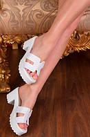 Шлепанцы на платформе и каблуке, фото 1