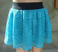 Детская гипюровая юбка на резинке